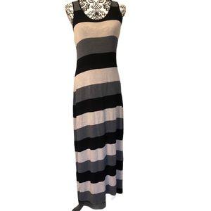 Calvin Klein striped tank top maxi dress